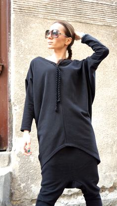 NEW Collection SS/15 Black Extravarant Top  Tunic / by Aakasha