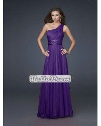 631ea8cceb A-line One Shoulder Chiffon Empire Waist with Beadings Prom Dress PD33864 Ruffle  Beading