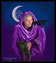"""""""Samhain Goddess: The Crone"""" by Arwens Grace (Angela Jayne Barnett) Our modern-day Halloween celebration comes from the ancient Celtic hol. Maiden Mother Crone, Mother Goddess, Samhain, Photo Chat, Halloween Celebration, Moon Goddess, Gods And Goddesses, Book Of Shadows, Faeries"""
