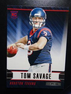 2014 Panini Rookies and Stars #193 Tom Savage Houston Texans Rookie Card #HoustonTexans