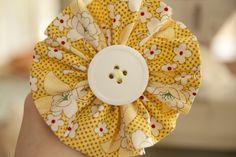 pinwheel button DIY fabric flowers
