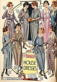 "1921 Sears ""Homestead"" gingham house dresses"