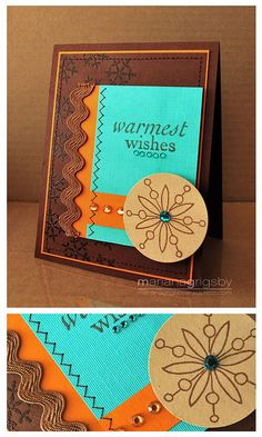 handmade card: Warmest Wishes by maropeusa, via Flickr ... luv how these rich Southwest colors work together ...