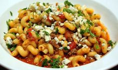Beef Goulash with Blue Cheese.