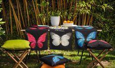Tischläufer und Kissen mit Schmetterling (von APELT STOFFE)
