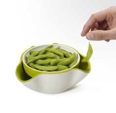 Ooo. The Double Dish. A bowl designed to hold shells and whatnot from your yum yums. I need this. $18