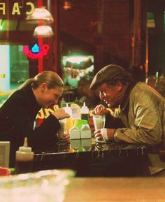 Olivia and Walter with milkshakes #fringe