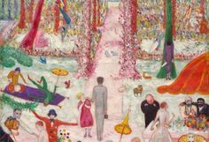 Florine Stettheimer, Sunday Afternoon in the Country, 1917 Öl auf Leinwand, 128 x 92,5 cm The Cleveland Museum of Art Gift of the Ettie Stettheimer