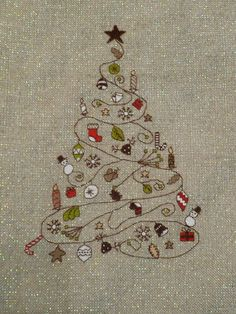 Christmas tree pattern. $6.00, via Etsy.