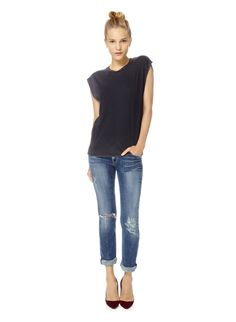 CITIZENS OF HUMANITY AVA-INDIE DESTROYED - Lightly distressed Japanese denim in a modern straight cut // Aritzia