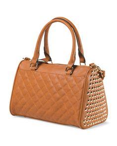 MMS quilted satchel - tan - TJMaxx
