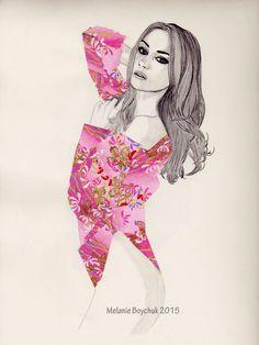 Print of an Original Fashion Illustration - Origami Paper & Pencil by MelaniaB on Etsy