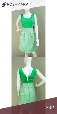 Green Multi-Pattern Dress NWT New York & Company Dresses