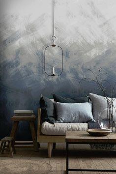 Trending: Rough Textured Walls | Centsational Style Blue Colour Wallpaper, Textured Wallpaper, Colorful Wallpaper, Textured Walls, Venetian Plaster Walls, Interior Walls, My New Room, White Walls, Diy Wall