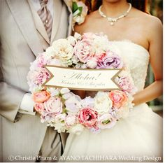 -Tuesday Post- Welcome Wreath Wedding Bouquets, Wedding Flowers, Wedding Dresses, Welcome Boards, Pink Wreath, Welcome Wreath, Wedding Shot, Hawaii Wedding, Dried Flowers