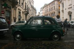 The smaller the car, the easier it is to whip around the streets of Rome. Some streets are so small only motorcycles and scooters can slide through!