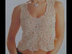 Crochet Summer Tops, Knit Crochet, Crochet Baby, Crochet Beanie Pattern, Crochet Patterns, Barbie, Dress Tutorials, Crochet Diagram, Crochet Videos
