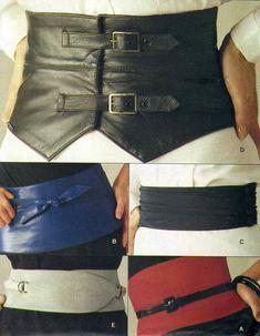 80s Vogue 8721 Set of Waist Cincher Belts Sz S-L uncut 18-3.6off 14.4+2.75=17.15 5/13/14