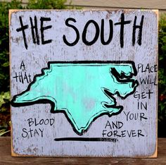 North Carolina Hand Painted Sign from Simply Southern Signs and Bourbon & Boots