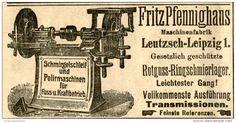 Original-Werbung/ Anzeige 1905 : SCHMIRGELSCHLEIF UND POLIRMASCHINEN PFENNIGHAUS LEUTZSCH LEIPZIG - ca. 100 x 50 mm