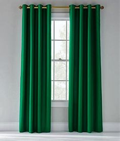 Faux Silk Curtains, Cool Curtains, Velvet Curtains, Grommet Curtains, Window Curtains, Green Windows, House Windows, Living Room Green, Bedroom Green