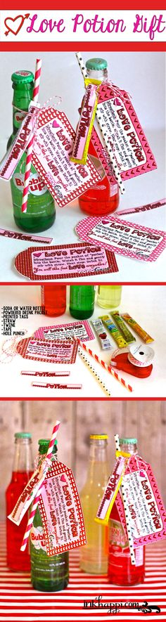 Cute Love Potion Valentine Gift Idea with free printables!