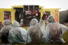 Rain didn't stop these festival-goers from enjoying the music in the main arena at Leeds F. Rain Poncho, Enjoy The Sunshine, Music Festivals, Leeds, Colours, Seasons, Things To Sell, Seasons Of The Year
