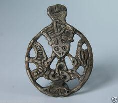 VIKING-Period-SILVER-GOD-LOKI-AMULET-Scandinavian-Norse-Pendant-900-1000-AD