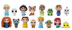 Disney Princesses Mystery Minis Vinyl Figure Blind Boxes by Funko (Feb. Souvenirs Disney, Funko Pop Dolls, New Disney Princesses, Disney Pop, Funko Mystery Minis, Disney Figurines, Clay Projects, Disney Movies, Disney Characters