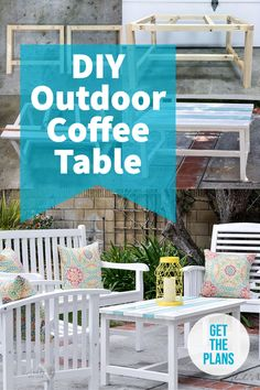 Make your own DIY outdoor coffee table with the complete plans and tutorial. It's the perfect addition to your outdoor living space and can be made in a day! #outdoorfurniture #outdoorcoffeetable #DIYfurniture #AnikasDIYLife Kreg Jig Projects, Beginner Woodworking Projects, Diy Woodworking, Furniture Projects, Diy Furniture, Outdoor Furniture, Outdoor Coffee Tables, Wood Working For Beginners, Outdoor Living
