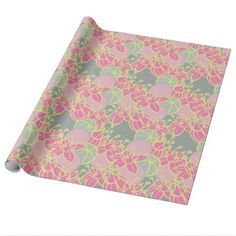 modern leaf bud and flower wrapping paper Pink Wrapping Paper, How To Wrap Flowers, Gift Wrapping Supplies, Organic Plants, Abstract Flowers, Amazing Flowers, Keep It Cleaner, Surface Design, Flower Patterns