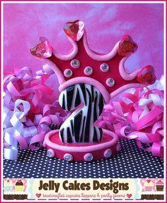 Zebra Princess cake topper.