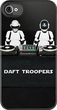 Daft Punk vs Star Wars - Daft Trooper DJS iphone case