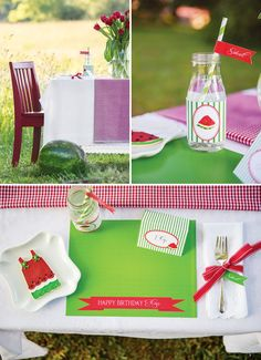 Sweet Watermelon Picnic party