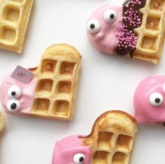 Wafel traktatie cute!