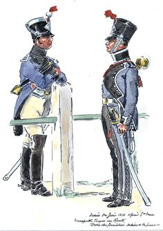 French; Engineer's Train, Officer & Trumpeter, 1810