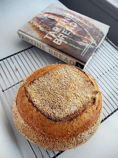 Tartine Sesame Country Sourdough Bread, with a recipe from 'Tartine Bread'.