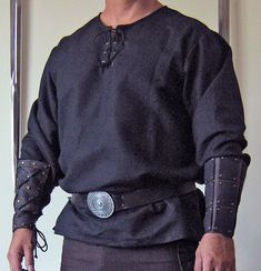 Medieval Celtic Viking Long Sleeves Shirt Plain.