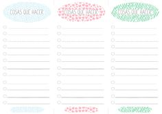 imprimible: lista de cosas que hacer