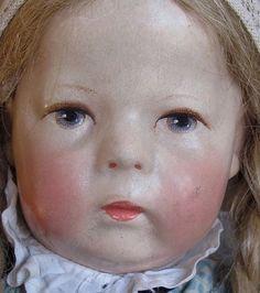 Alte sehr schöne Käthe Kruse Puppe I H, mit Haare, verschiedene Kleidungsstücke | eBay