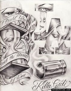arte more tattoo ideas lowrider chicano art killa cali chicano tattoo . Boog Tattoo, Payasa Tattoo, Tattoo Flash, Chicano Art Tattoos, Chicano Drawings, Tattoo Drawings, Chicano Tattoos Gangsters, Prison Drawings, Gangster Drawings