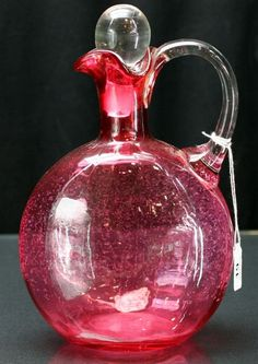Victorian cranberry glass jug