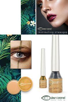 Eye liner turquoise bio d'inspiration ethnique Couleur Caramel