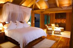 The 1st suite, in their house on their private island.