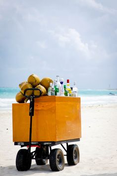 bar cart on the beach...