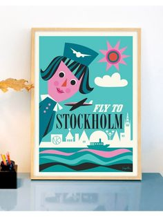 Fly to Stockholm (50x70cm)