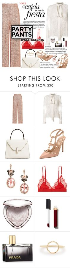 """#PolyPresents: Fancy Pants"" by anarita11 ❤ liked on Polyvore featuring Temperley London, Elie Saab, Valextra, Valentino, Effy Jewelry, LoveStories, Too Faced Cosmetics, Chanel, Prada and contestentry"