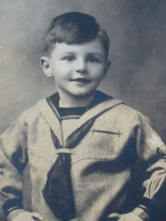 Antique 1920's Postcard Photograph of Boy in Sailor Suit...Albert Aley...5 Years…