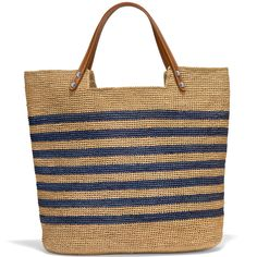 Ferrara Palmier Raffia Tote Straw - Cool stuff to buy - Knitted Bags, Crochet Bags, Bead Crochet, Tote Handbags, Leather Handbags, Leather Bag, Fashion Handbags, Straw Crafts, Straw Tote