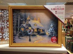 Light up picture frames. These elegant prints are given a new twist with dim lights that twinkle and shine.